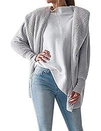 BaZhaHei-Chaqueta de Mujer, Chaqueta para Mujer con Capucha mullida Abrigo de Invierno Blusa