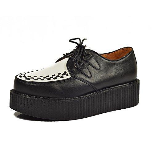 Cuero Zapatos para Hombre Cordones Plataforma Oxfords Gótico Punk Creepers 40