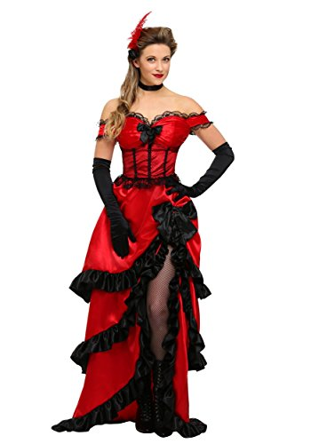 Adult Saloon Girl Fancy dress costume Medium (Saloon Girl Adult Kostüm)