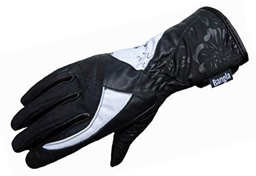 Damen Motorrad Handschuh Motorradhandschuh Bangla 5530 schwarz weiss M