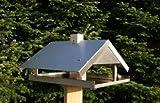 Vogelhaus Vogelvilla aus Edelstahl mit Veranda Made in Germany