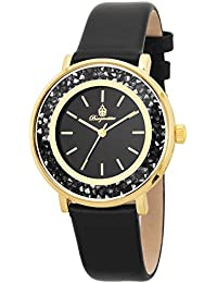 Burgmeister Armbanduhr für Damen mit Analog Anzeige, Quarz-Uhr und und Lederarmband - Wasserdichte Damenuhr mit zeitlosem, schickem Design - klassische, elegante Uhr für Frauen - BM537-222 St. Lucia
