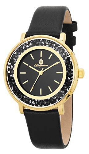 Burgmeister BM537-222, Ladies Watch, Analogue Display, Quartz with Citizen Movement - Water Resistant, Stylish Leather Strap, Elegant Women's Watch