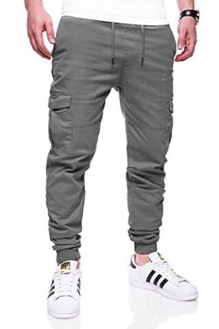 MT Styles Cargo Jogging Chino-pantalon homme 7005 [gris fonce,
