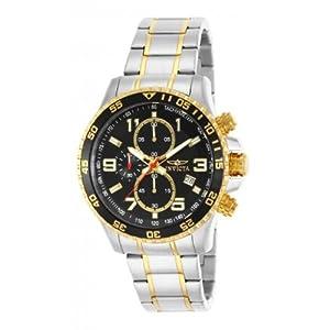 Reloj INVICTA 14876 de cuarzo para hombre, correa de acero inoxidable color dos tonos de INVICTA