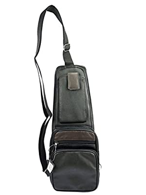 Sacoche Pochette Holster porté travers ambidextre bicolore cuir