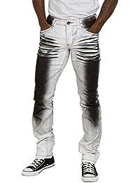 3084af1bddce US Marshall Herren Jeans - Grau Schwarz Regular Fit Männer Denim Mode Pants  Carlo