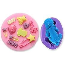 Soledi DIY Molde repostería Moldes de Silicona bebé pies muñeco para Decoración de ...