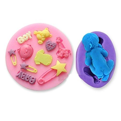 Soledi Moule en silicone sur le thème du bébé pour décoration de gâteaux