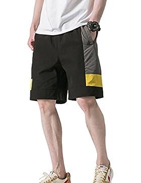 Pinkpum Bermuda Deporte Hombre Pantalones Cortos De Playa Al Aire Libre Verano Casual Ejercicio Físico Elasticidad...