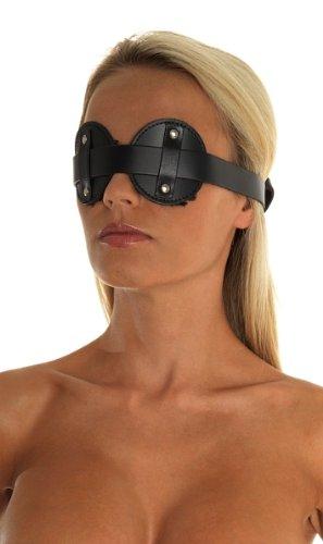 Erotic Fashion ra7574 Augenbinde, schwarz Leder Verstellbar, 1er-Pack (1 x 1 Stück)