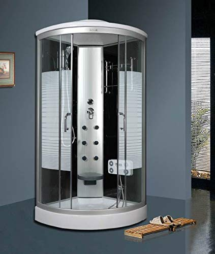 OimexGmbH Arielle ECO Duschkabine 90 x 90 cm Komplettdusche mit Massagefunktion Armaturen Sicherheitsglas (ESG) Dusche