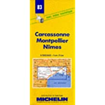 Carte routière : Carcassonne - Montpellier - Nîmes, 83, 1/200000