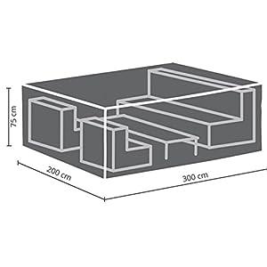 Perel Garden OCLS-L Protective Cover for Lounge Set – L, Black, 300 x 300 x 75 cm