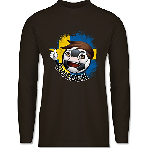 EM 2016 - Frankreich - Fußballjunge Schweden - Longsleeve / langärmeliges  T-Shirt für Herren