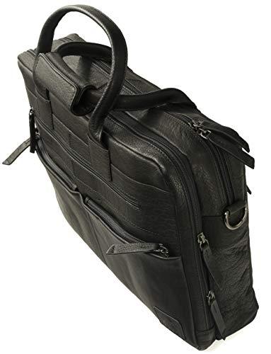 Fa.Volmer® Herren Echt-Leder Business-Tasche für Notebook #Bag82035