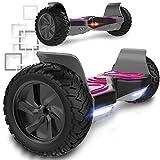 Hover Scooter Board SUV de 8,5 Pulgadas, Todo Terreno 700 W con LED, Equilibrio...