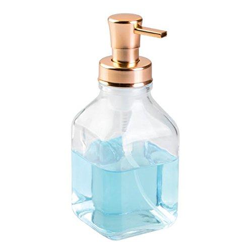 mDesign Pompa Dispenser Sapone Schiumogeno in Vetro, per Cucina o Bagno - (Bronzo Rame Accenti)