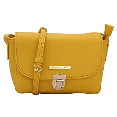 Lapis O Lupo Ornate Women's Sling Bag (Yellow)