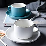 EThome Pure Color Coffee Cup And Saucer