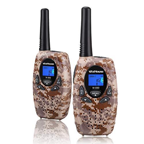 r Funkgeräte Set 3KM Reichweite 8 Kanäle walki talki mit Kordel LCD-Display PMR VOX Walkie Talkie Kinder ad 3 4 5 8 Für Innen- und Außenaktivitäten(2er Set, Wüste Tarnung) ()