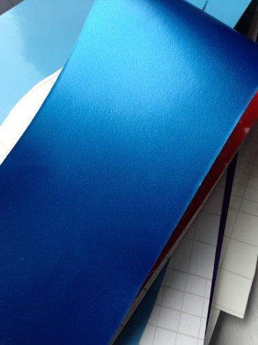 Könighaus Blau Metallic Matt Autofolie 1000 x 152 cm blasenfrei mit Anleitung