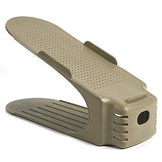 Schuhschlitze, platzsparend, Doppel-Schuhregal, Aufbewahrungsregal 25 cm*10 cm*15 cm beige