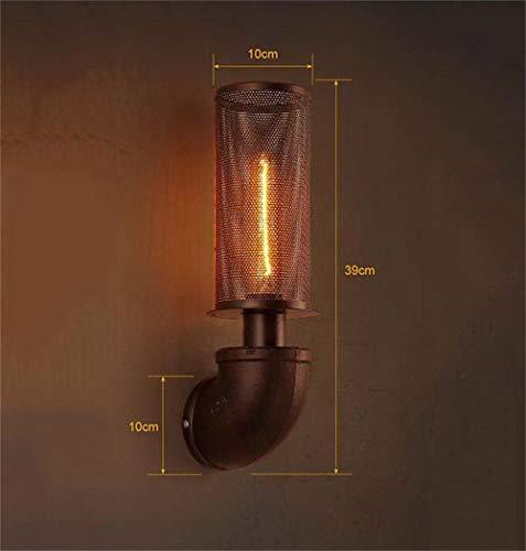 LXD Hauptlampe American Iron Vintage Kreative Persönlichkeit Windindustrie Wand Restaurant Bar Cafe Nachtwand -
