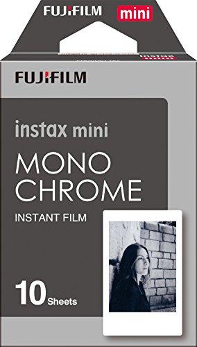 Fujifilm 16531958 Instax Mini Pellicola Istantanea Monochrome, 10 Pose, Bianco