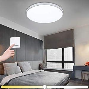 VINGO® 16W LED Deckenleuchte Farbwechsel Badezimmerlampe Innenleuchte Wohnraumleuchten Wand-Deckenleuchte Innenleuchte Beleuchtung Ultraslim Küche Büro Schlafzimmer