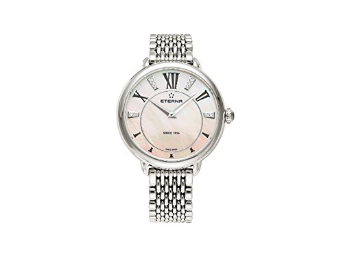 Eterna Lady Eterna Quartz Watch, ETA 956.412, 34mm, 5 ATM, Diamonds, Pink