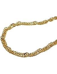ASS 333 - Gargantilla, 38 a 40 cm, 1,2 mm, oro diamantado