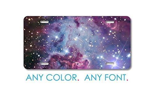 Monogram-personalizzata con targa-Piastra frontale in alluminio Full color Vanity-Pink Purple Blue Fox Fur (Frontale Vanity)