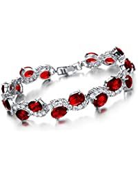 "Young & Forever Valentine Gifts Special ""Allure Collection"" Red Sparkling Ruby Garnet Affinity For Bling Sterling..."