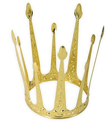Krone Gold, elegant, Metallkrone, Krönchen, Prinzessinnenkrone, Märchen (Modell R) - Kronen Elegante