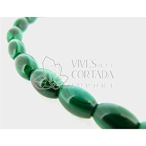 Fil Malachite Natural Cilindre 12 mm
