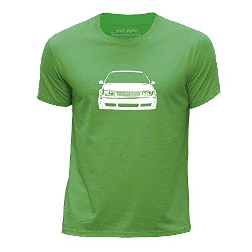 stuff4-chicos-edad-de-12-14-152-164cm-verde-cuello-redondo-de-la-camiseta-plantilla-coche-arte-bora-