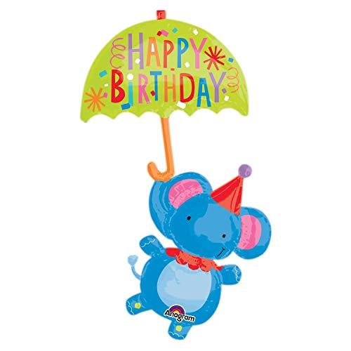 Amscan International 8.349.744,5cm Circus Elefant Happy Birthday Super Form Folienballon