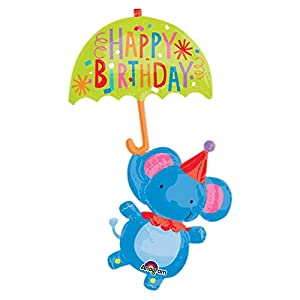 "Amscan International 3287301 ""Circus Elephant Happy Birthday Super Shape Globo de Papel de Aluminio"