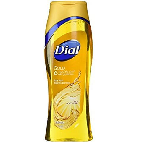 Dial Gold Deodorizing Body Wash with Moisturizers, 16 OZ (Pack of 3) by Dial