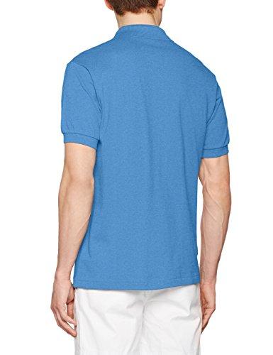 Lacoste L1264-00 Herren Poloshirt, kurzärmlig, Polo Blau (Bleu Lagon Chiné)