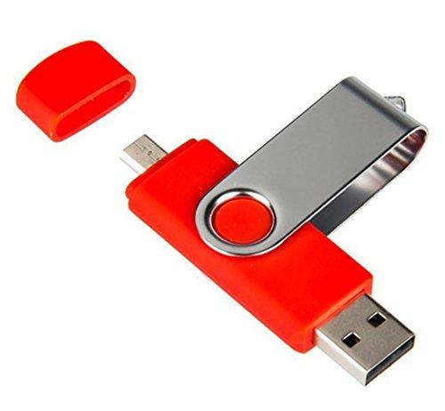 daorier 8GB/16GB/32GB/64GB Dual USB flash drive USB 2.0OTG Dual Transfer Memory Stick 2in 1di memoria Flash Drive per PC Tablet Andriod Samsung Galaxy S7Huawei