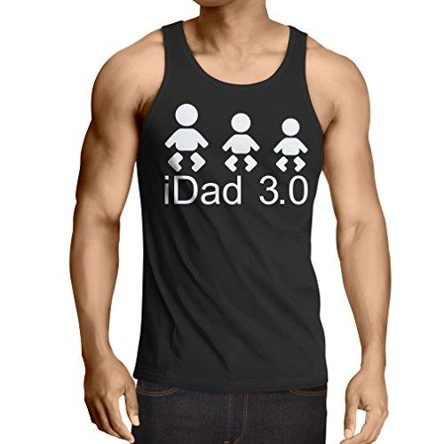Singlete IDad 3 le meilleur papa jamais des cadeaux pour lui cadeaux de jour de père (Small Noir Blanc)