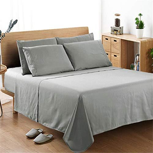 NIKIMI 4 Stücke Solide Komfort Bettlaken Set Tiefe Tasche Bettlaken Bettwäsche Matratzenbezug Voller König Königin Twin Größe