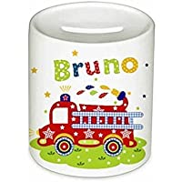 Feuerwehr, Spardose, mit Namen, für Kinder, Geschenk, Geschenk Taufe, Kinderspardose, Sparschwein, Geldgeschenke,