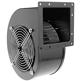 PrimeMatik - Centrifugal radial air extractor for industrial ventilation 2600 rpm square 202x175x124 mm