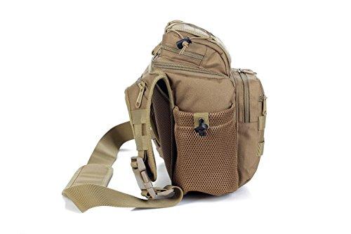 F@Borsa impermeabile di 20L litro, SLR fotocamera Camo borse, borsa a tracolla IPAD, escursionismo a piedi sacchi Digital Camo, sacchi, borse bici Campeggio , black Black
