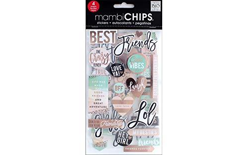 Unbekannt mambichips Friends Chip Aufkleber mit Rose Gold Folie Behandlung, 4Blatt -