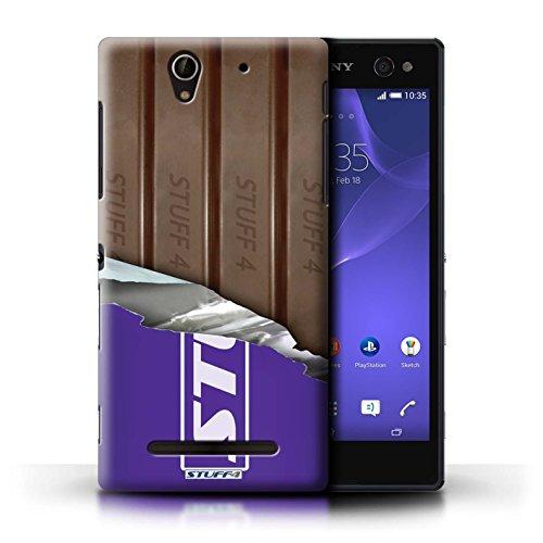 Kobalt® Imprimé Etui / Coque pour Sony Xperia C3 / Galaxy Vague conception / Série Chocolat Doigts/Sticks Enveloppé