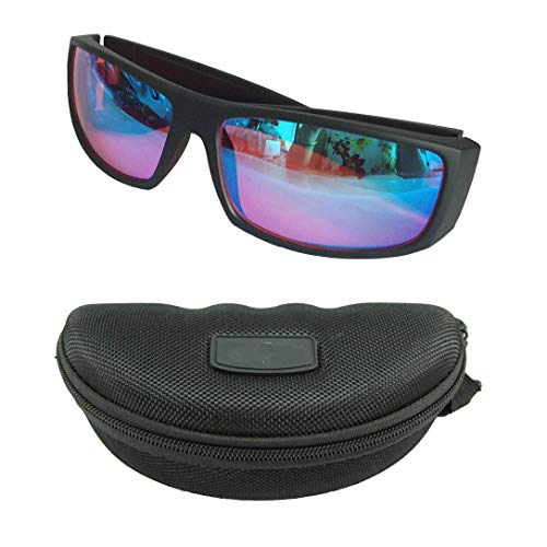 Soddyenergyrot Color Blind Korrekturbrille, grüne Farbe Blind Brille Korrektur Korrektur Männer Frauen Farbe-Blindheit Brille Fahrer Verkehr Brille